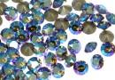 Swarovski, chaton ss29, black diamond shimmer, 6mm - x4