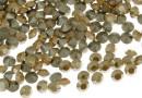Swarovski, chaton PP18, white opal gold. shadow, 2.5mm - x20