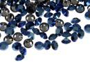 Swarovski, chaton pp14, metallic blue, 2mm - x20