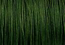 Snur matase cu guta, pentru bratari, verde padure, 0.8mm - x5m