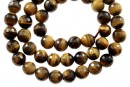 Brown tiger eye, faceted round, 6.5mm