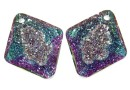 Swarovski, pandantiv growing rhombus, vitrail light, 26mm - x1
