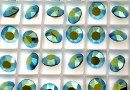 Swarovski, chaton SS39, pacific opal aurore boreale, 8mm - x2