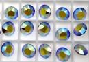 Swarovski, chaton SS39, fuchsia aurore boreale, 8mm - x2