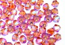 Swarovski, margele bicone, light rose AB2x, 4mm - x20