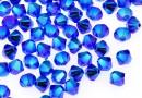 Swarovski, margele bicone xilion, majestic blue AB2X, 4mm - x20