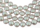 Perle Swarovski disc, iridescent dove grey, 10mm - x10