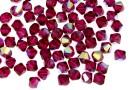 Swarovski, margele bicone, ruby aurore boreale, 4mm - x20