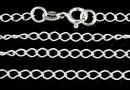 Lant argint 925, zale mari, 42cm - x1