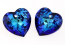 Swarovski, pandantiv inima, bermuda blue, 8mm - x2