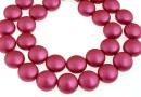 Perle Swarovski disc, mulberry pink pearl, 12mm - x4