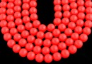 Perle Swarovski, neon red, 12mm - x2