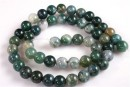 Moss agate, round, 4.3mm