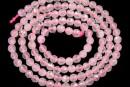 Pink quartz, faceted round, 4.3mm