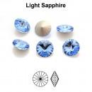 Preciosa rivoli, light sapphire, 6mm - x2