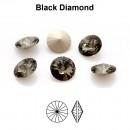 Preciosa rivoli, black diamond, 6mm - x2