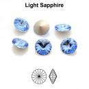 Preciosa rivoli, light sapphire, 10mm - x2