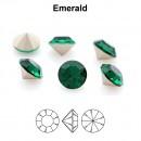 Preciosa chaton, emerald, 6mm - x4