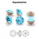 Preciosa chaton, aquamarine, 7mm - x2