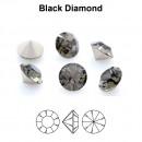 Preciosa chaton, black diamond, 8mm - x2