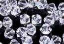 Preciosa, margele bicone, crystal, 4mm - x40