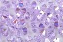 Preciosa, margele bicone, violet AB, 4mm - x40