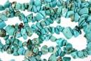 Turquoise magnesite - chips mare - magnezit turcoaz, 78cm